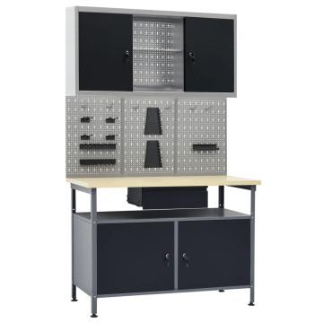Munkapad három fali panellel és egy szekrénnyel - utánvéttel vagy ingyenes szállítással