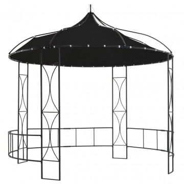 Antracitszürke kerek pavilon 300 x 290 cm - utánvéttel vagy ingyenes szállítással