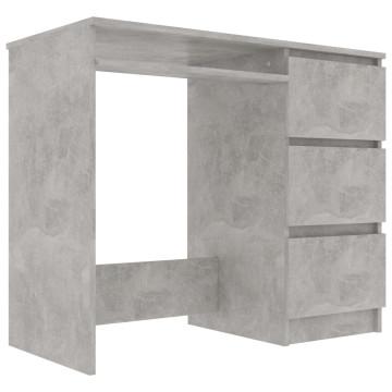 Betonszürke forgácslap íróasztal 90 x 45 x 76 cm - utánvéttel vagy ingyenes szállítással