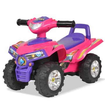Rózsaszín/lila gyerek quad hang- és fényeffekttel - ingyenes szállítás