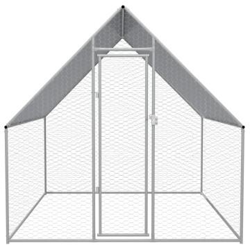 Kültéri galvanizált acél tyúkól 2 x 2 x 2 m - utánvéttel vagy ingyenes szállítással