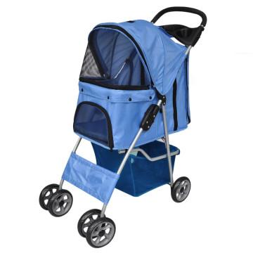 Kék kutyaszállító kocsi - utánvéttel vagy ingyenes szállítással