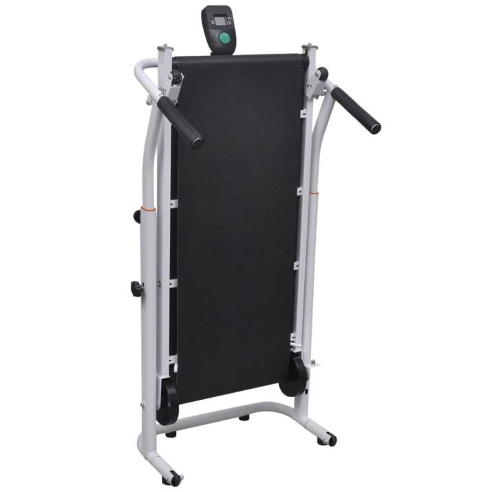 Fekete összecsukható mini futópad 93 x 36 cm - ingyenes szállítás