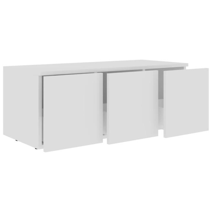 Fehér forgácslap TV-szekrény 80 x 34 x 30 cm - utánvéttel vagy ingyenes szállítással