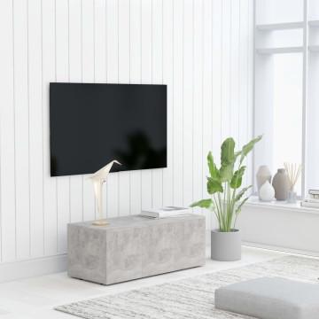 Betonszürke forgácslap TV-szekrény 80 x 34 x 30 cm...