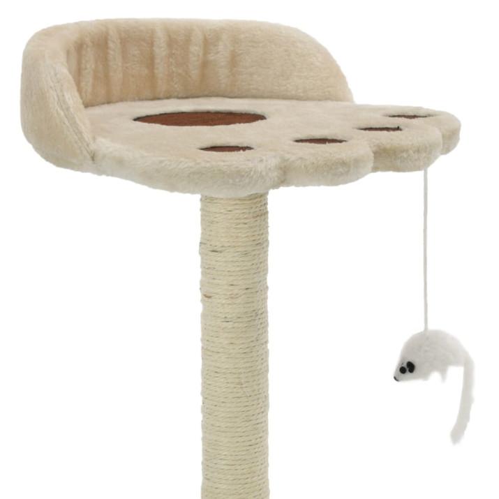 Bézs/barna macskabútor szizál kaparófával 40 cm - utánvéttel vagy ingyenes szállítással