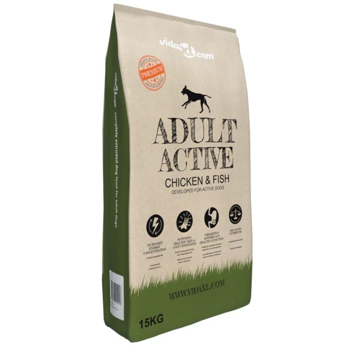 """2 db """"Adult Active Chicken & Fish"""" prémium száraz kutyatáp 30kg - ingyenes szállítás"""