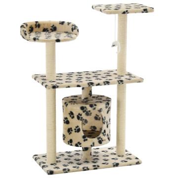 Bézs macskabútor szizál kaparófákkal 95 cm - ingyenes szállítás