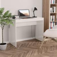Magasfényű fehér forgácslap íróasztal 90 x 40 x 72 cm - utánvéttel vagy ingyenes szállítással