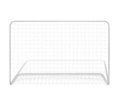 Fehér acél focikapu hálóval 182 x 61 x 122 cm - utánvéttel vagy ingyenes szállítással