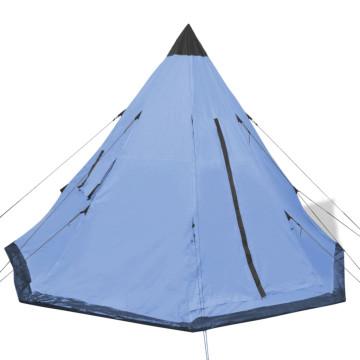 4 személyes kék sátor - ingyenes szállítás