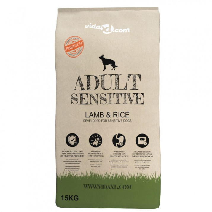 """2 db """"Adult Sensitive Lamb & Rice"""" prémium száraz kutyatáp 30 kg - utánvéttel vagy ingyenes szállítással"""