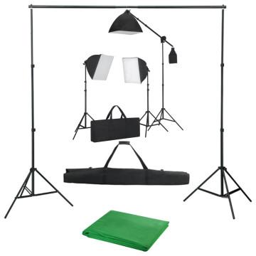 Fotóstúdió-felszerelés softbox lámpákkal és háttérrel - utánvéttel vagy ingyenes szállítással