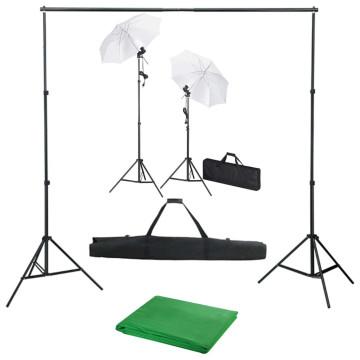 Fotóstúdió-felszerelés háttérrel, lámpákkal és ernyőkkel - utánvéttel vagy ingyenes szállítással
