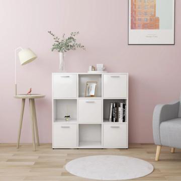 Fehér forgácslap könyvszekrény 90 x 30 x 90 cm - utánvéttel vagy ingyenes szállítással