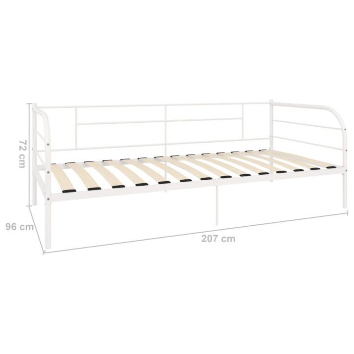 Fehér fém kanapéágy-keret 90 x 200 cm - utánvéttel vagy ingyenes szállítással