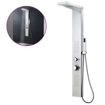 Rozsdamentes acél tusoló panel rendszer szögletes - utánvéttel vagy ingyenes szállítással