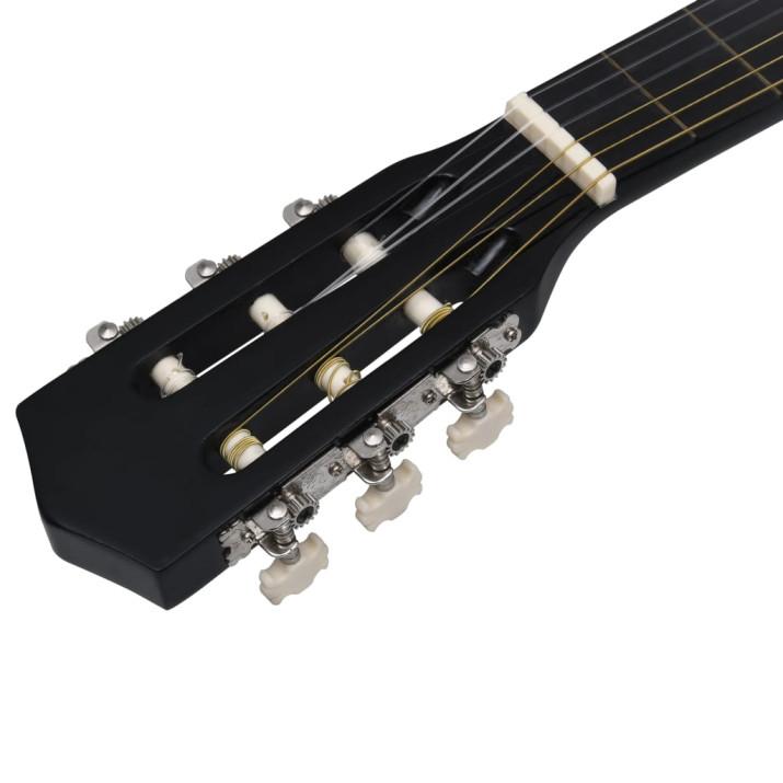 12 darabos 6 húros kék akusztikus western gitárszett 38