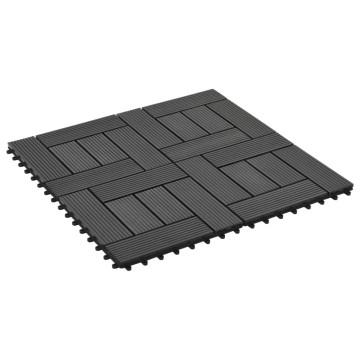 22 db (2 m2) fekete WPC teraszburkoló lap 30 x 30 cm - utánvéttel vagy ingyenes szállítással