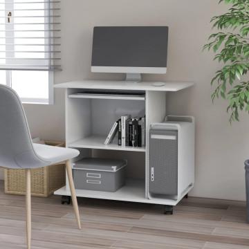 Fehér forgácslap számítógépasztal 80 x 50 x 75 cm - utánvéttel vagy ingyenes szállítással