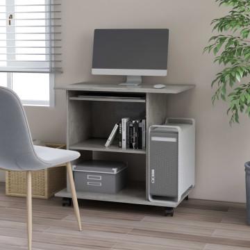 Betonszürke forgácslap számítógépasztal 80 x 50 x 75 cm - utánvéttel vagy ingyenes szállítással