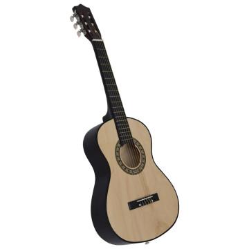 1/2-es klasszikus gitár kezdőknek és gyereknek tokkal 34