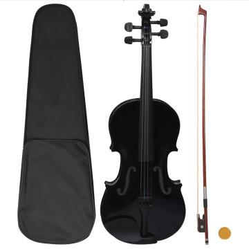 Fekete teljes hegedűszett vonóval és álltartóval 4/4 - utánvéttel vagy ingyenes szállítással