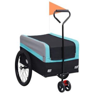 Kék/fekete 2 az 1-ben XXL bicikliutánfutó és sétakocsi 11,6 kg - utánvéttel vagy ingyenes szállítással