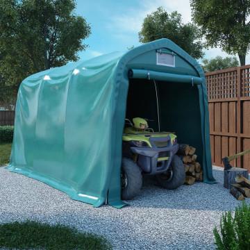 Zöld PVC sátorgarázs 2,4 x 3,6 m - utánvéttel vagy ingyenes szállítással
