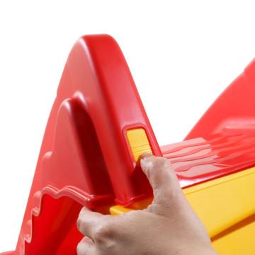 Piros és sárga összecsukható bel- és kültéri gyerekcsúszda - utánvéttel vagy ingyenes szállítással