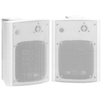 2 db fehér bel- és kültéri fali sztereó hangszóró 120 W - utánvéttel vagy ingyenes szállítással