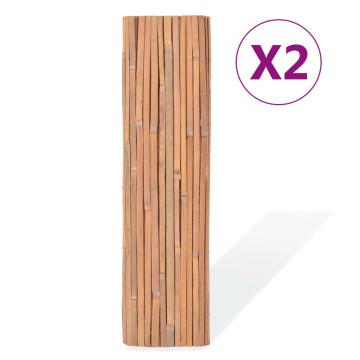2 db bambuszkerítés 100 x 400 cm - utánvéttel vagy ingyenes szállítással