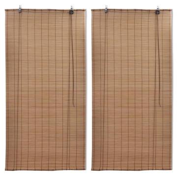 2 db barna bambusz redőny 80 x 160 cm - utánvéttel vagy ingyenes szállítással