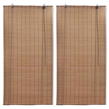 2 db barna bambusz redőny 100 x 160 cm - utánvéttel vagy ingyenes szállítással