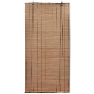 2 db barna bambusz redőny 120 x 220 cm - utánvéttel vagy ingyenes szállítással