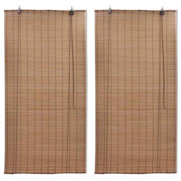 2 db barna bambusz redőny 150 x 220 cm - utánvéttel vagy ingyenes szállítással