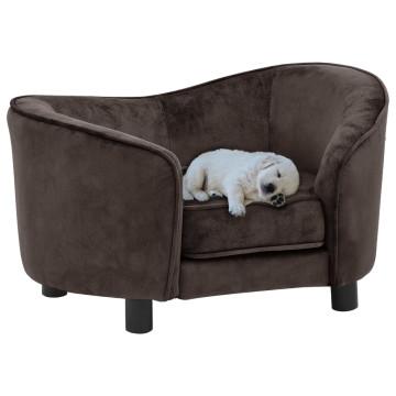 Barna plüss kutyakanapé 69 x 49 x 40 cm - utánvéttel vagy ingyenes szállítással