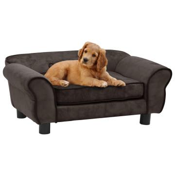 Barna plüss kutyakanapé 72 x 45 x 30 cm - utánvéttel vagy ingyenes szállítással