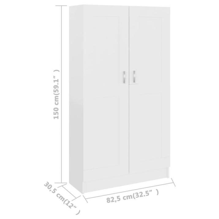 Fehér forgácslap könyvszekrény 82,5 x 30,5 x 150 cm - utánvéttel vagy ingyenes szállítással