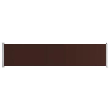 Barna kihúzható oldalsó terasz-napellenző 140 x 600 cm - utánvéttel vagy ingyenes szállítással