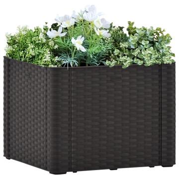 Antracitszürke kerti magaságyás öntözőrendszerrel 43x43x33cm - utánvéttel vagy ingyenes szállítással