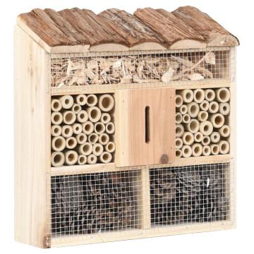 Fenyőfa rovarhotel 30 x 10 x 30 cm - utánvéttel vagy ingyenes szállítással