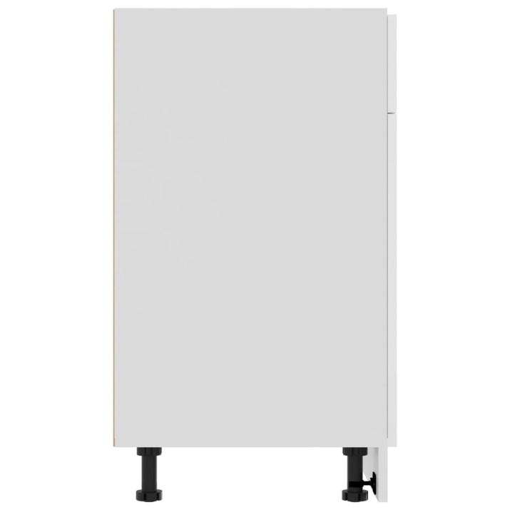 Magasfényű fehér forgácslap konyhaszekrény 80 x 46 x 81,5 cm - utánvéttel vagy ingyenes szállítással