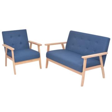 2 részes kék huzatú ülőgarnitúra - ingyenes szállítás