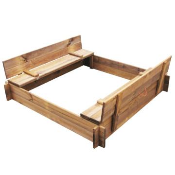 Négyszög alakú FSC impregnált fa homokozó - ingyenes szállítás