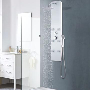 Fehér üveg zuhanypanel 25 x 44,6 x 130 cm - utánvéttel vagy ingyenes szállítással