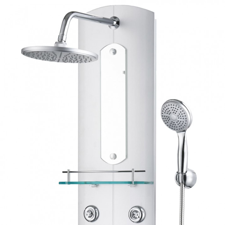 Ezüstszínű zuhanypanel 25 x 43 x 120 cm - utánvéttel vagy ingyenes szállítással