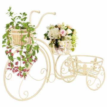 Vintage stílusú bicikli-formájú fém virágtartó állvány - utánvéttel vagy ingyenes szállítással