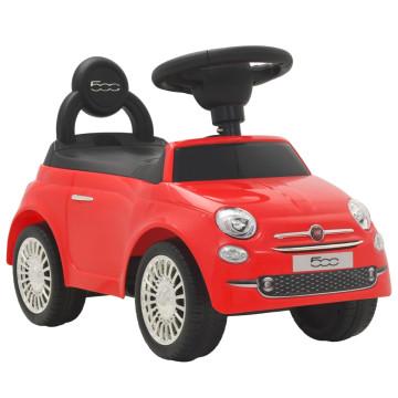 Piros ráülős Fiat 500 játékautó - utánvéttel vagy ingyenes szállítással