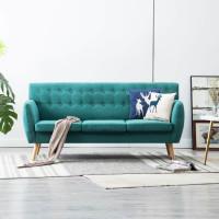 3 személyes zöld kárpitos kanapé 172 x 70 x 82 cm - utánvéttel vagy ingyenes szállítással